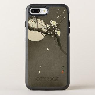 Capa Para iPhone 8 Plus/7 Plus OtterBox Symmetry Flores da ameixa na noite pelo vintage de Ohara