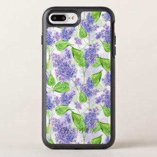 Capa Para iPhone 8 Plus/7 Plus OtterBox Symmetry Flores do lilac da aguarela