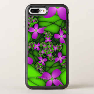 Capa Para iPhone 8 Plus/7 Plus OtterBox Symmetry Flores verdes cor-de-rosa de néon abstratas