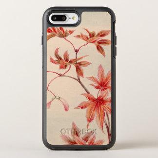Capa Para iPhone 8 Plus/7 Plus OtterBox Symmetry Folhas de bordo (impressão do japonês do vintage)