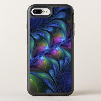 Capa Para iPhone 8 Plus/7 Plus OtterBox Symmetry Fractal verde cor-de-rosa azul abstrato luminoso