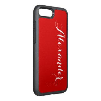 Capa Para iPhone 8 Plus/7 Plus OtterBox Symmetry Fundo da cor de DIY, vermelho conhecido do