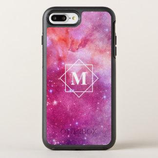 Capa Para iPhone 8 Plus/7 Plus OtterBox Symmetry Galáxia da nebulosa da aguarela & monograma