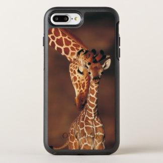 Capa Para iPhone 8 Plus/7 Plus OtterBox Symmetry Girafa adulto com vitela (camelopardalis do