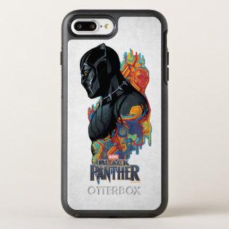 Capa Para iPhone 8 Plus/7 Plus OtterBox Symmetry Grafites tribais da pantera preta de pantera preta