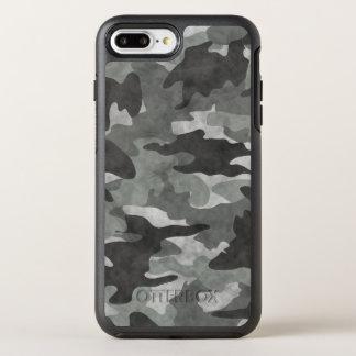 Capa Para iPhone 8 Plus/7 Plus OtterBox Symmetry Grunge preto e teste padrão cinzento da camuflagem