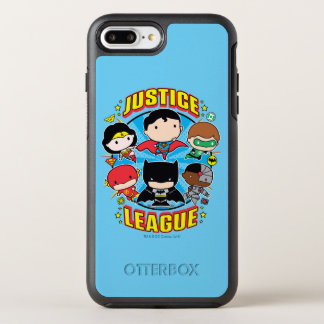 Capa Para iPhone 8 Plus/7 Plus OtterBox Symmetry Grupo da liga de justiça de Chibi