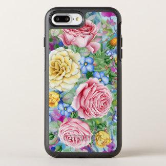Capa Para iPhone 8 Plus/7 Plus OtterBox Symmetry Ilustração colorida dos rosas
