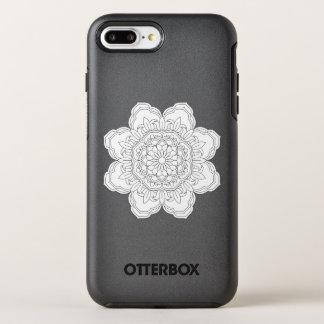 Capa Para iPhone 8 Plus/7 Plus OtterBox Symmetry Ilustração ornamentado da mandala do vetor para