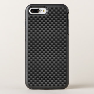 Capa Para iPhone 8 Plus/7 Plus OtterBox Symmetry Impressão automotriz da fibra do carbono do preto