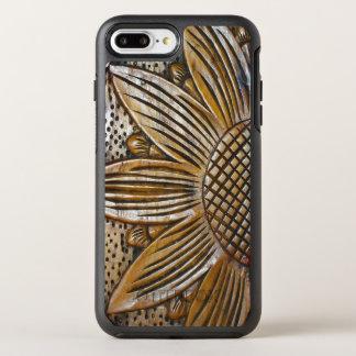 Capa Para iPhone 8 Plus/7 Plus OtterBox Symmetry Impressão de madeira da foto da escultura do