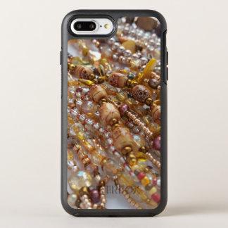 Capa Para iPhone 8 Plus/7 Plus OtterBox Symmetry Impressão do grânulo de Earthtone do caso de