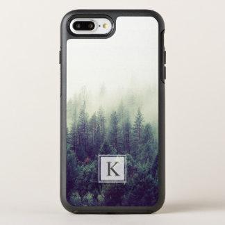Capa Para iPhone 8 Plus/7 Plus OtterBox Symmetry Inicial chique moderna do monograma da floresta do
