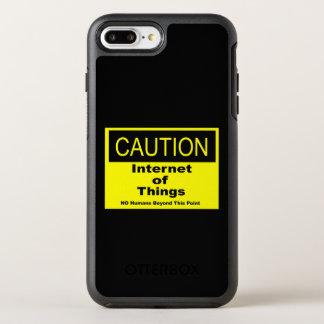 Capa Para iPhone 8 Plus/7 Plus OtterBox Symmetry Internet do sinal de aviso do cuidado de IoT das