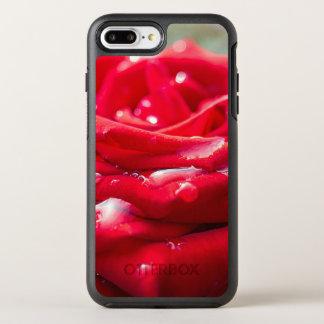 Capa Para iPhone 8 Plus/7 Plus OtterBox Symmetry iPhone floral da rosa vermelha/exemplo de Samsung