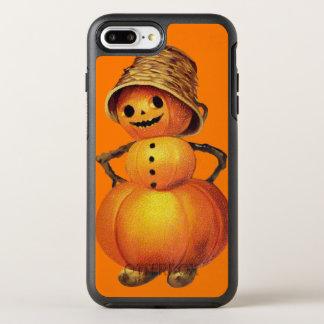 Capa Para iPhone 8 Plus/7 Plus OtterBox Symmetry Laranja de sorriso do boneco de neve da abóbora