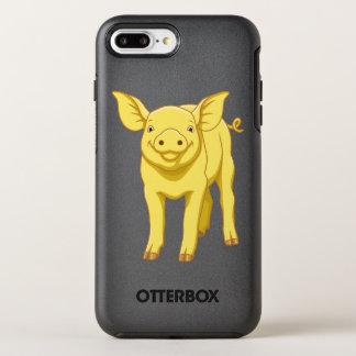 Capa Para iPhone 8 Plus/7 Plus OtterBox Symmetry Leitão bonito porco dia do 17 de julho amarelo