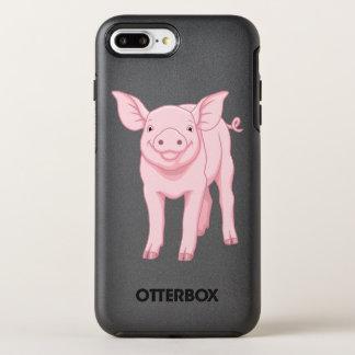 Capa Para iPhone 8 Plus/7 Plus OtterBox Symmetry Leitão cor-de-rosa bonito do bebê
