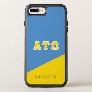 Capa Para iPhone 8 Plus/7 Plus OtterBox Symmetry Letras do grego da tau Omega   do alfa