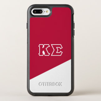Capa Para iPhone 8 Plus/7 Plus OtterBox Symmetry Letras do grego do Sigma | do Kappa