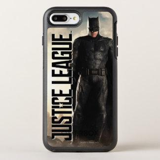 Capa Para iPhone 8 Plus/7 Plus OtterBox Symmetry Liga de justiça | Batman no campo de batalha