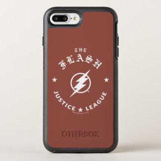 Capa Para iPhone 8 Plus/7 Plus OtterBox Symmetry Liga de justiça | o emblema retro instantâneo do