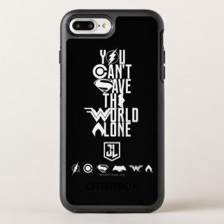 Capa Para iPhone 8 Plus/7 Plus OtterBox Symmetry Liga de justiça | você não pode salvar o mundo