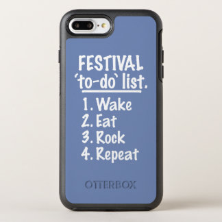 Capa Para iPhone 8 Plus/7 Plus OtterBox Symmetry Lista do tumulto do ` do festival' (branca)