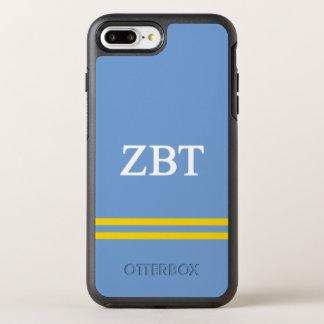 Capa Para iPhone 8 Plus/7 Plus OtterBox Symmetry Listra do esporte da tau | do Zeta beta