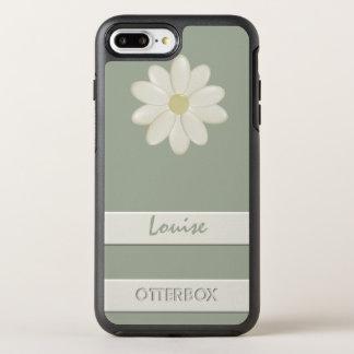 Capa Para iPhone 8 Plus/7 Plus OtterBox Symmetry Listra positiva da flor da margarida do iPhone 8