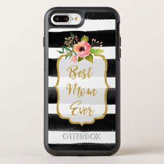 Capa Para iPhone 8 Plus/7 Plus OtterBox Symmetry Listrado floral do melhor ouro da aguarela da mamã