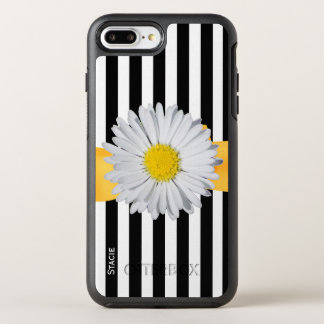 Capa Para iPhone 8 Plus/7 Plus OtterBox Symmetry Listras e margarida