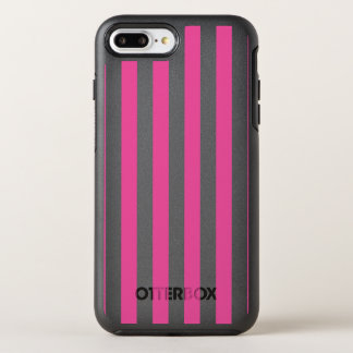 Capa Para iPhone 8 Plus/7 Plus OtterBox Symmetry Listras verticais cor-de-rosa