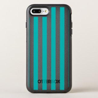 Capa Para iPhone 8 Plus/7 Plus OtterBox Symmetry Listras verticais do Aqua