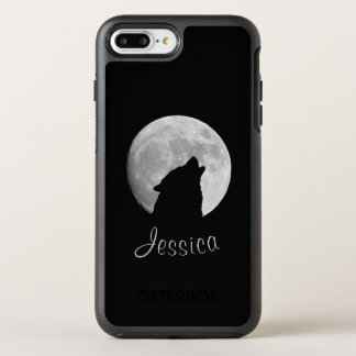 Capa Para iPhone 8 Plus/7 Plus OtterBox Symmetry Lobo que urra na Lua cheia, seu nome