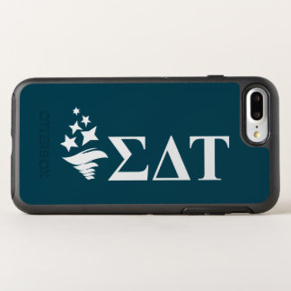 Capa Para iPhone 8 Plus/7 Plus OtterBox Symmetry Logotipo grande da tau | Lil do delta do Sigma