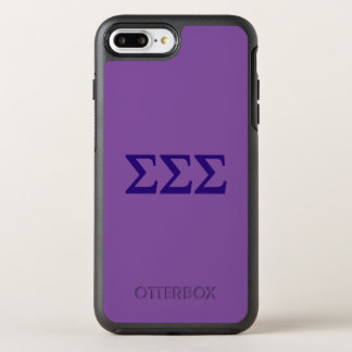 Capa Para iPhone 8 Plus/7 Plus OtterBox Symmetry Logotipo grande de Lil do Sigma do Sigma do Sigma