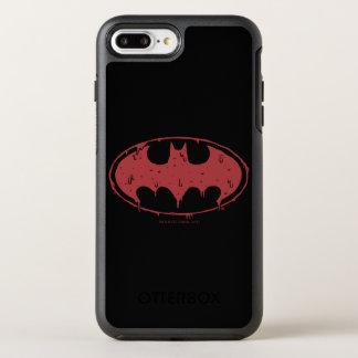 Capa Para iPhone 8 Plus/7 Plus OtterBox Symmetry Logotipo Oozing do bastão vermelho de Batman |