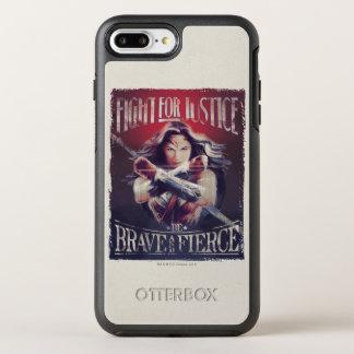 Capa Para iPhone 8 Plus/7 Plus OtterBox Symmetry Luta da mulher maravilha para justiça