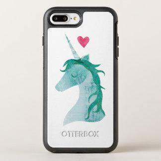 Capa Para iPhone 8 Plus/7 Plus OtterBox Symmetry Mágica azul do unicórnio com coração