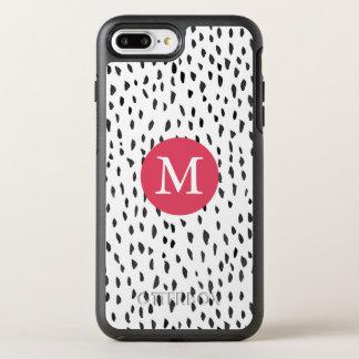 Capa Para iPhone 8 Plus/7 Plus OtterBox Symmetry Mão feminino Monogrammed moderna teste padrão de