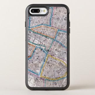 Capa Para iPhone 8 Plus/7 Plus OtterBox Symmetry Mapa antigo de Paris