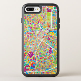 Capa Para iPhone 8 Plus/7 Plus OtterBox Symmetry Mapa de néon de Houston, Texas |