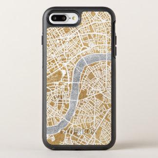 Capa Para iPhone 8 Plus/7 Plus OtterBox Symmetry Mapa dourado da cidade de Londres