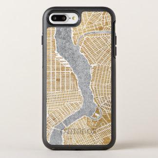 Capa Para iPhone 8 Plus/7 Plus OtterBox Symmetry Mapa dourado da cidade de New York