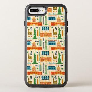 Capa Para iPhone 8 Plus/7 Plus OtterBox Symmetry Marcos dos Estados Unidos da América