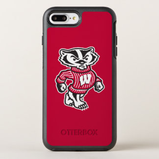 Capa Para iPhone 8 Plus/7 Plus OtterBox Symmetry Mascote Bucky do texugo de Wisconsin |