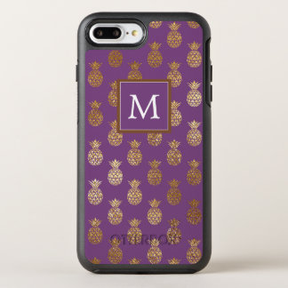 Capa Para iPhone 8 Plus/7 Plus OtterBox Symmetry Monograma abacaxis roxos & de cobre de |