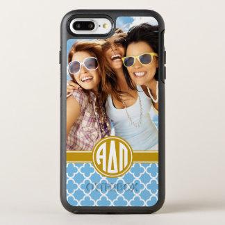 Capa Para iPhone 8 Plus/7 Plus OtterBox Symmetry Monograma alfa e foto do Pi | do delta