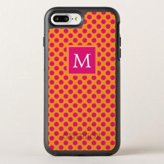 Capa Para iPhone 8 Plus/7 Plus OtterBox Symmetry Monograma bolinhas cor-de-rosa & alaranjadas de |